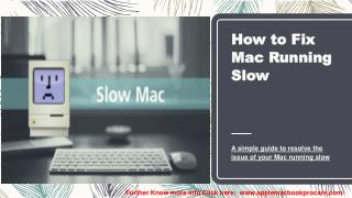 Get Best Way to Solve Issues if you're Mac Running Slow