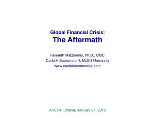 Global Financial Crisis: The Aftermath