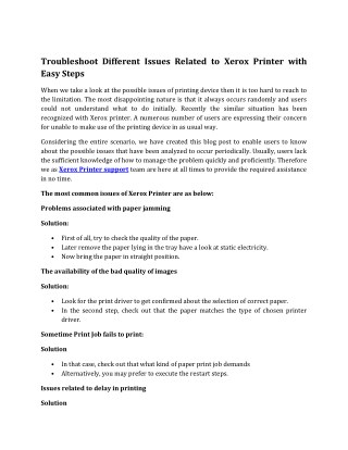 Xerox Printer Support Number for printer issues Dial tollfree 61-1800-431-295 (Australia)