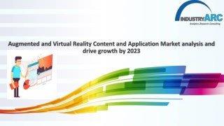 Augmented & Virtual Reality Content & Application Market Forecast (2018-2023)