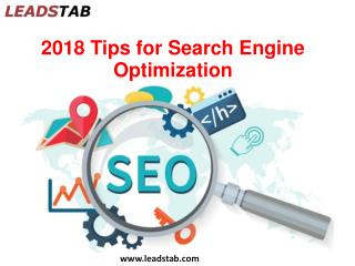 2018 tips for search engine optimization