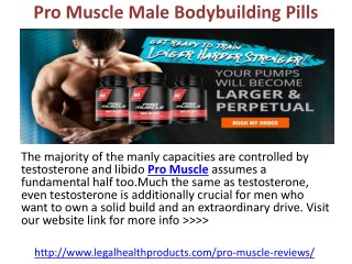 Pro Muscle Male Bodybuilding Pills