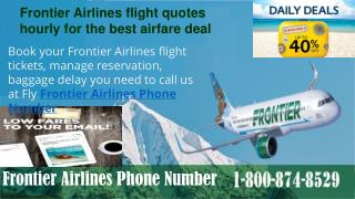 Dial Frontier Airlines Booking Phone Number 1-800-874-8529 for quick information