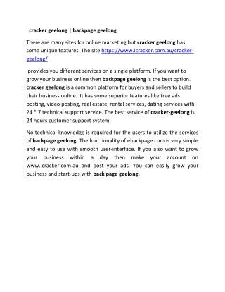 cracker geelong |backpage geelong