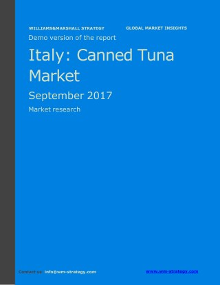 WMStrategy Demo Italy Canned Tuna Market September 2017