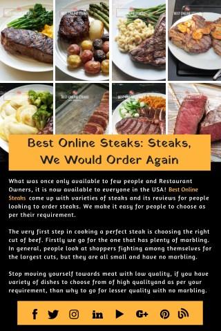 Best Online Steaks : Steaks, We Would Order Again