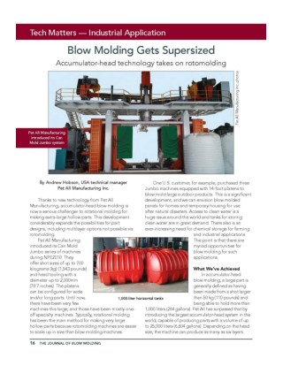 The Journal Of Blow Molding -Pet All Manufacturing Inc
