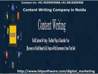 Have you ever gained experience in Content Writing Company in Noida  91-9818309908?