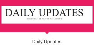 Daily News Updates | Daily Updates
