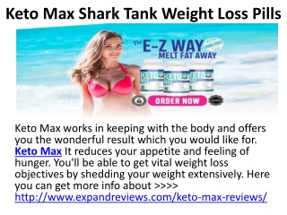 Keto Max Shark Tank Weight Loss Pills Effective Weight Loss Pills