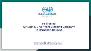 Trusted Dryer Vent Cleaning Hernando County FL