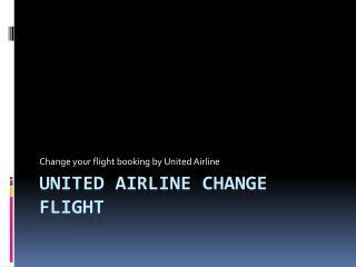United Airline Flight Checker