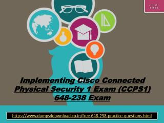 Free 648-238 Actual Exam Dumps | 648-238 Practice Questions