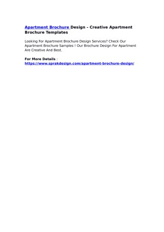 Apartment Brochure Design - Creative Apartment Brochure Templates