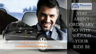 You Aren't Ordinary So Why Should Your Ride Be With Town Car Service Phoenix