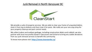 Junk Removal in North Vancouver