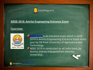 AEEE 2019: Application form, Eligibility, Exam Pattern, Result and Syllabus