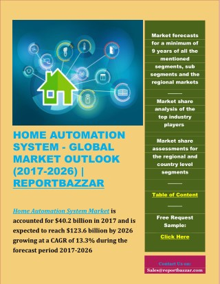Home Automation System Market Outlook 2017-2026