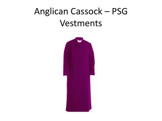 Anglican cassock - PSG vestments