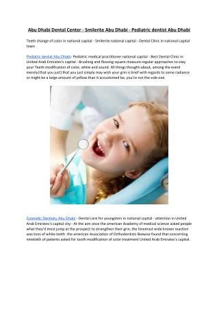 Abu Dhabi Dental Center - Smilerite Abu Dhabi - Pediatric dentist Abu Dhabi