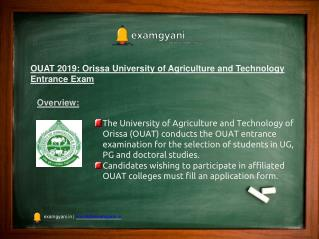 OUAT 2019: Application Form, Eligibility, Exam Dates, Syllabus, Result