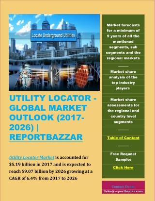 Utility locator Market Outlook (2017-2026)