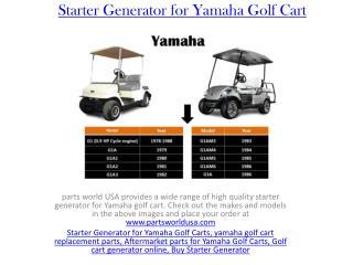 Starter Generator for Yamaha Golf Cart