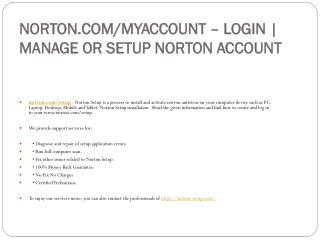 NORTON.COM/SETUP DOWNLOAD AND ACTIVATE YOUR NORTON ACCOUNT