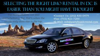 Selecting the Right Limo Rental in DC is Easier Than You Might Have Thought