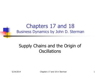 Chapters 17 and 18 Business Dynamics by John D. Sterman