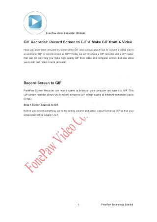 GIF Recorder: Record Screen to GIF & Make GIF from A Video