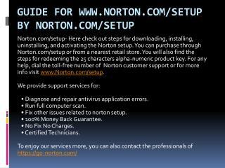 norton product key activation by norton.com/setup