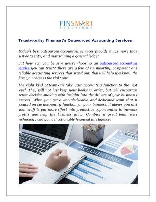 Trustworthy Finsmart's Outsourced Accounting Services