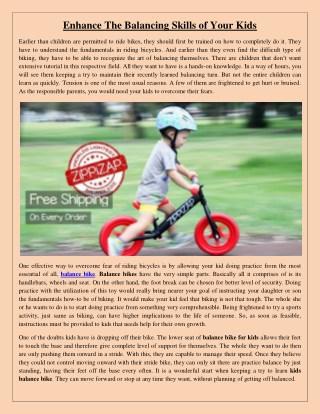 Enhance The Balancing Skills of Your Kids