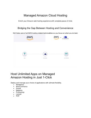Amazon web services hosting - Managed Hosting
