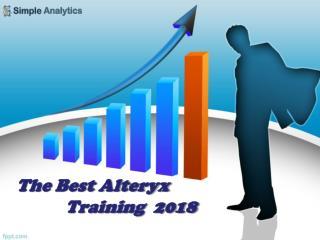 The Best Alteryx Training  2018