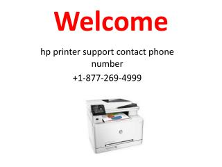 HP Printer Customer Support Help 1-877-269-4999