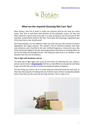 What is the Required Cleansing Skin Care Tips?