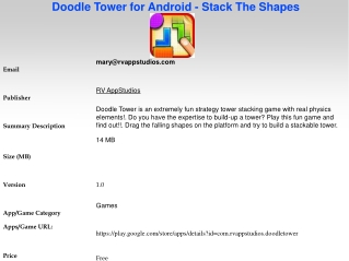 Doodle Tower for Android - Stack The Shapes