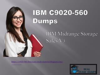 Free C9020-560 Exam Study Material - Get Updated C9020-560 Braindumps RealExamDumps