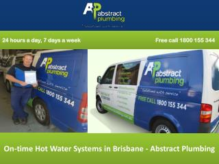 On-time Hot Water Systems in Brisbane - Abstract Plumbing