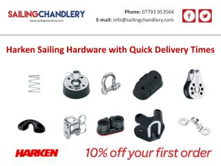 Harken Sailing Hardware with Quick Delivery Times