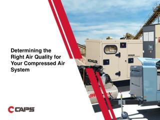 Air Quality for a Compressed Air System