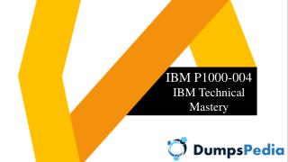 P1000-004 Dumps Questions and Answers