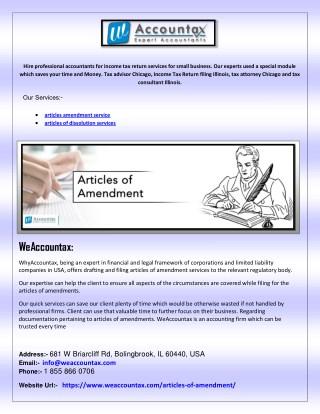 articles amendment service