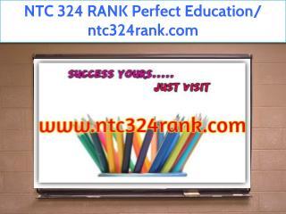 NTC 324 RANK Perfect Education/ ntc324rank.com
