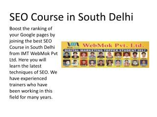 SEO Course in South Delhi