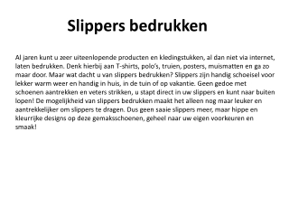 Slippers bedrukken