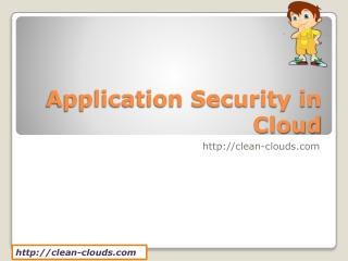Application Security in Cloud