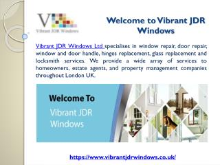 Vibrant JDR Windows - Best Windows and Doors Repair Services Provider